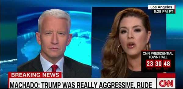 Anderson Cooper / Alicia Machado en entrevista a CNN | Foto: Captura de video