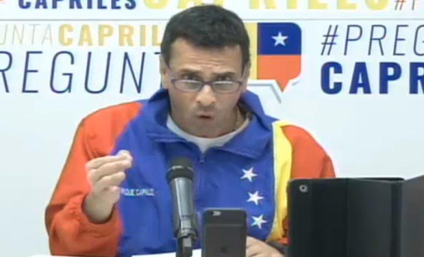 Henrique capriles |Captura de video