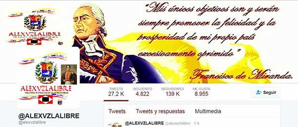 Perfil de @alexvzlalibre | Imagen