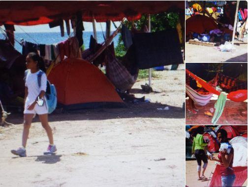 Los campistas chavistas no están pasando unas cómodas vacaciones |Foto: @jesusmedinae