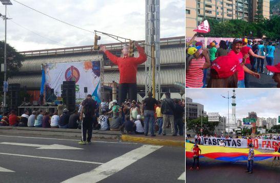 Chavistas se congregan en la Av. Bolívar |Foto Twitter
