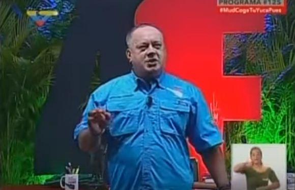 Diosdado Cabello, militante del PSUV en el Mazo Dando  Captura de Video