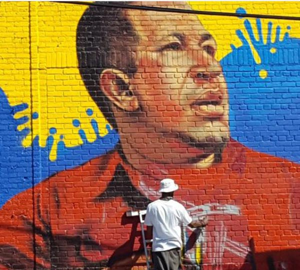 En el Bronx, zona de New York realizan un mural de Chávez |Foto: @mairbotpetit