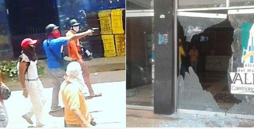 Presuntos colectivos atacaron fachada de la Alcaldía de Varela |Foto: _PJTrujillo