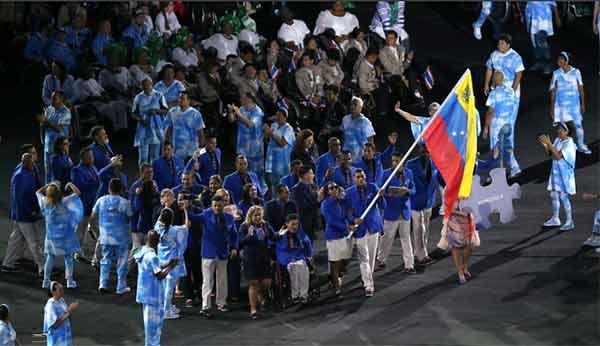 Delegación venezolana en la apertura de los Juegos Paralímpicos Río 2016 | @IND_Vzla
