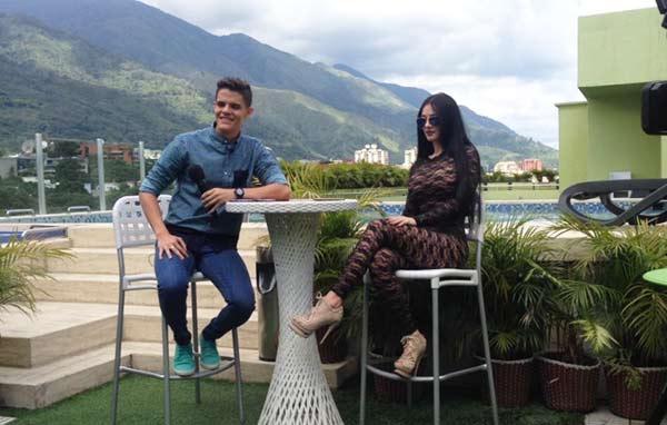 Diosa Canales junto a Newmaker Quintero | Foto: El Farandi