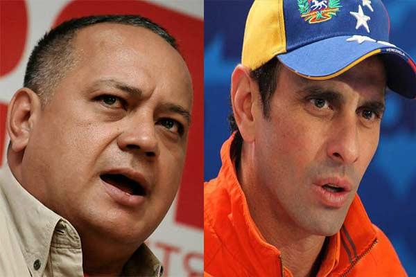 Diosdado Cabello y Henrique Capriles   Foto referencial