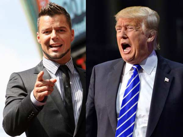 Ricky Martin / Donal Trump   Foto referencial