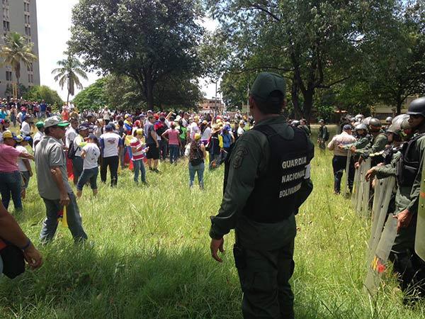 Tuiteros reportaron represión de manifestantes en Guayana| Foto Twitter