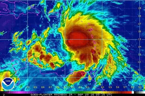 Tormenta tropical Matthew se convirtió en huracán | Foto: vía @TelenoticiasPR