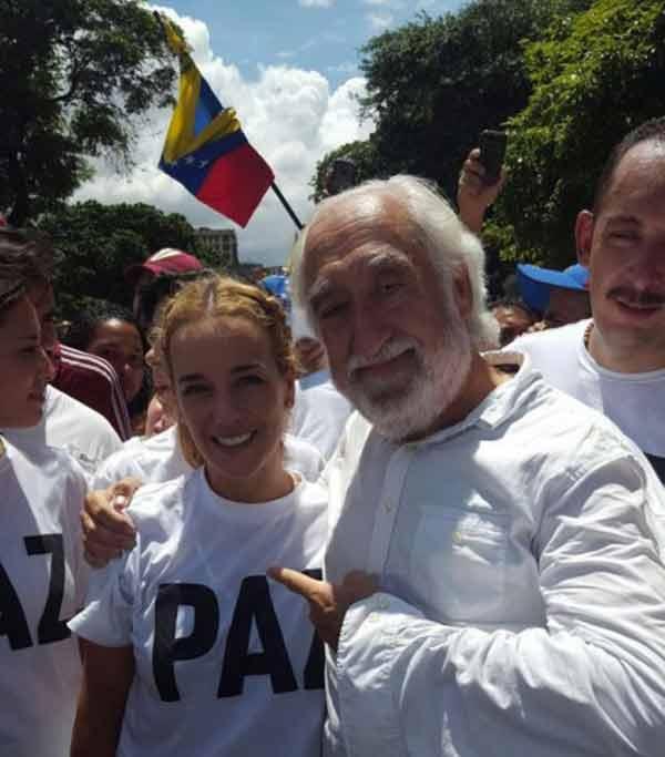 Lilian Tintori y Josep Maldonado | Foto: Prensa VP