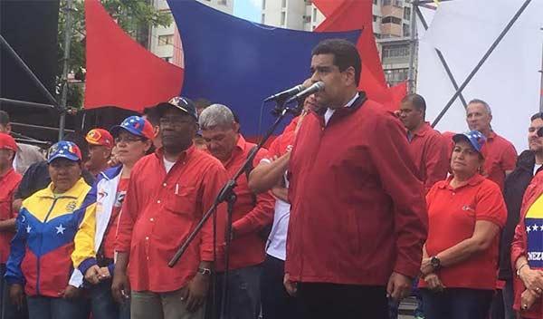 Maduro asegura que la avenida Bolívar estaba llena de punta a punta