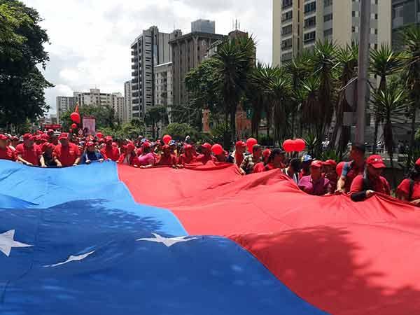 Marcha del oficialismo   Foto: Twitter