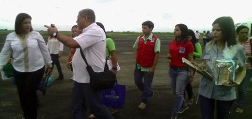 Marleny de Cabello en su arribo al aeropuerto de Guanare | Foto: El Pitazo