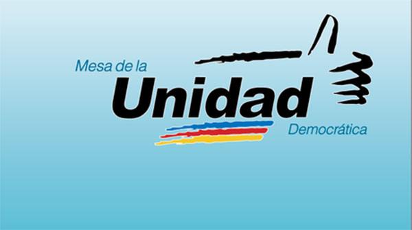 Comunicado de la Mesa de la Unidad Democrática (MUD).