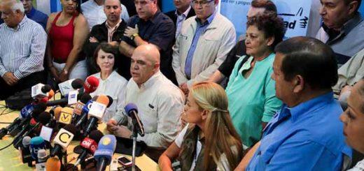 Dirigentes de la MUD| Foto referencial: Primicia