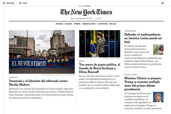 The New York Times | Imagen: NotiTotal