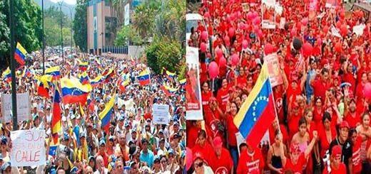 Opositores y oficialistas seguirán movilizados |Fotomontaje