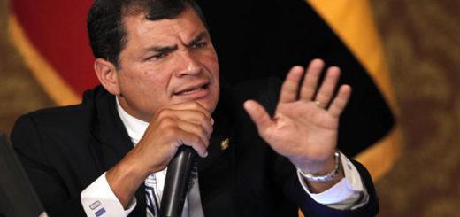 Rafael Correa, presidente de Ecuador | Foto: Agencia