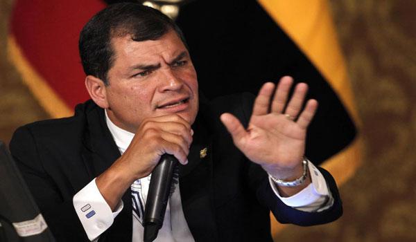 Rafael Correa, presidente de Ecuador   Foto: Agencia