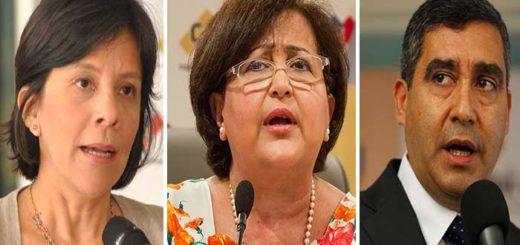 Sandra Oblitas, Tibisay Lucena y Rodríguez Torres |Composición: Notitotal