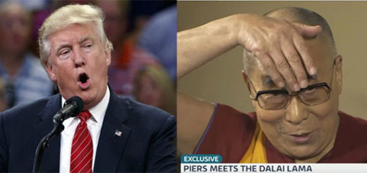 Donald Trump / Dalai Lama | Fotomontaje