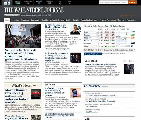 The Wall Street Journal en Español | Imagen: NotiTotal