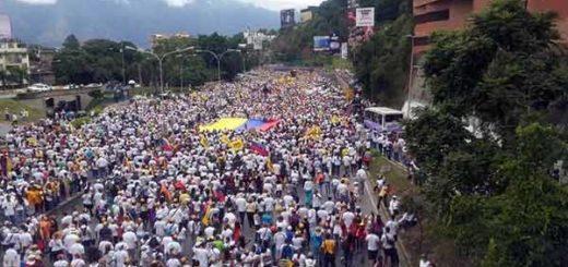 Toma de Caracas   Foto: Vía @enpaiszeta