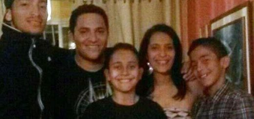 Ingrid Urdaneta junto a su familia | Foto: Caraota Digital