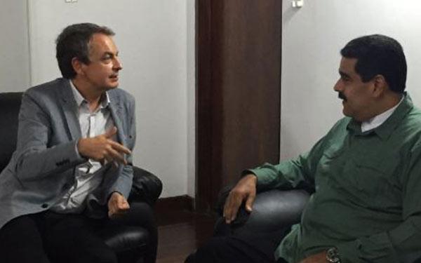 José Luis Rodríguez Zapatero y Nicolás Maduro el pasado 10-S | Foto: @RodríguezVen