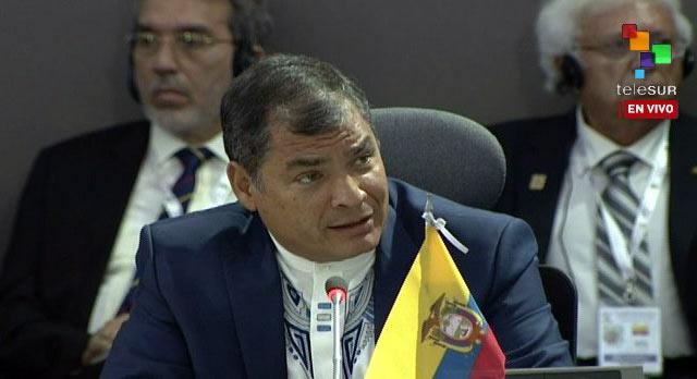 Rafael Correa, presidente de Ecuador   Foto: @teleSURtv