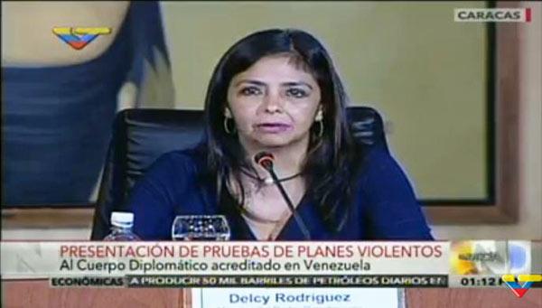 Delcy Rodríguez  Foto: captura de video