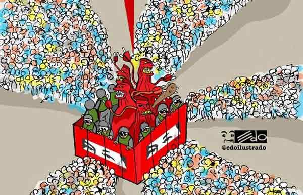 Caricatura de EDO   Foto: @edoilustrado