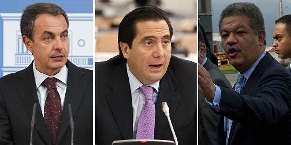 Ex presidentes José Luis Zapatero / Leonel Fernández / Martín Torrijos  |EFE y AFP