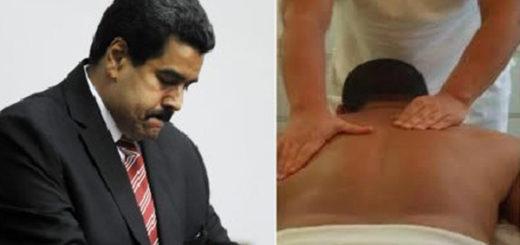 ¿Necesitará un masaje Nicolás Maduro?