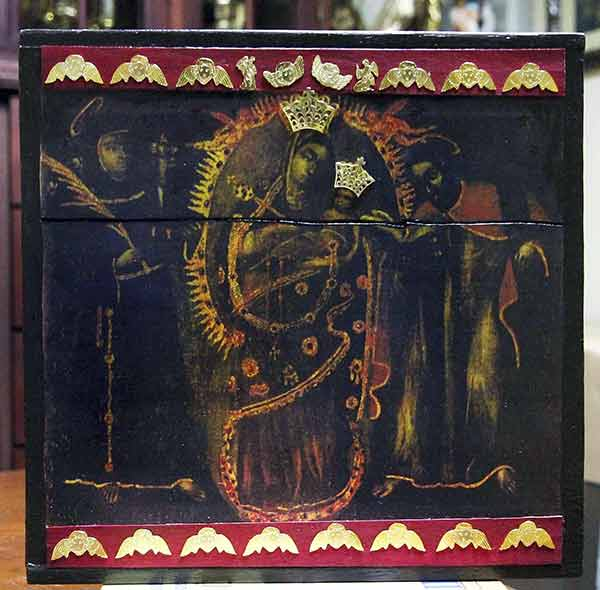 Tablita de la Virgen de Chiquinquirá | Foto: Américo Torres