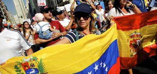 Venezolanos en Madrid en marcha contra Maduro 04/09/16 | Foto: CLAUDIO ALVAREZ