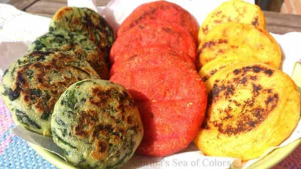 Arepas de zanahoria, remolacha y calabacín | Foto referencial