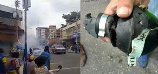 marcha opositora fue dispersa con gases lacrimógenos |Imagen: Notitotal