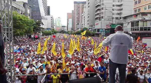 Torrealba anunció la Toma de Venezuela