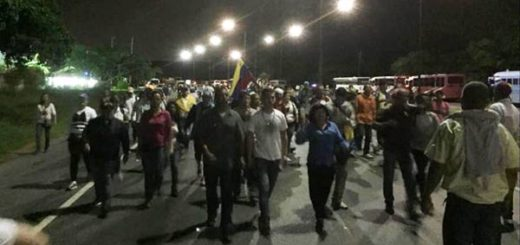 Manifestantes en Yaracuy | Foto: @ResistenciaV58