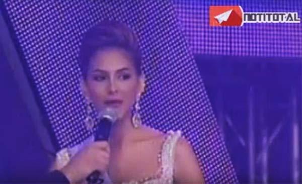 Miss Distrito Capital en la ronda de preguntas   Foto: Captura de video