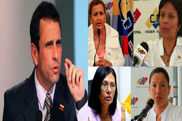 Capriles / rectoras del CNE |Foto: Notitotal