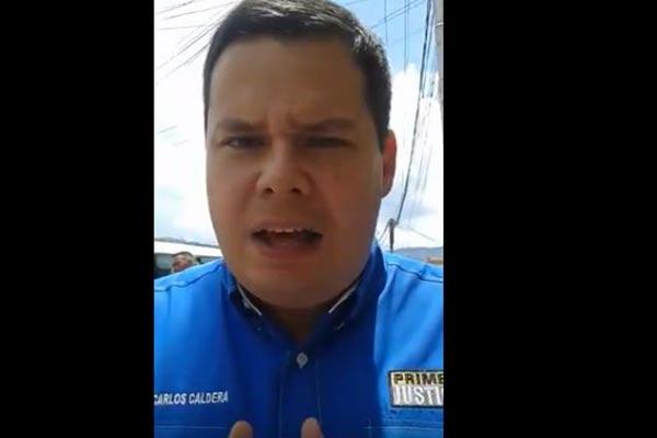 Juan Carlos Caldera exhorta al CNE a publicar la lista de los centros de votación para la recolección del 20% |Captura de video