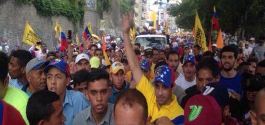 Henrique Capriles se une a la Toma de Venezuela  Foto Twitter