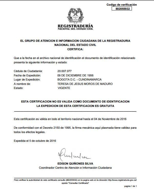 Bombazo! Colombia confirma la nacionalidad colombiana de la madre de ...