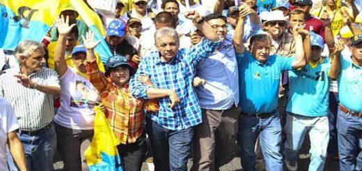 Alfredo Ramos durante movilización de la MUD