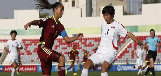 La selección femenina de la Vinotinto cayó ante Corea del Norte |Foto: Vtv