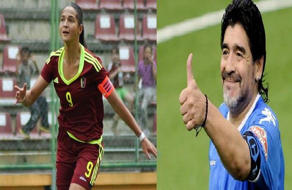 Deyna Castellano es comparada con Maradona |Composición: Notitotal