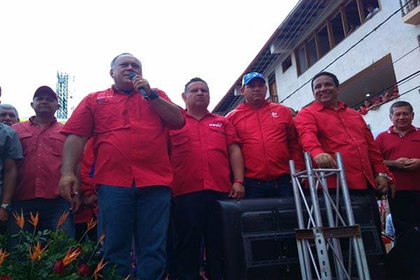 Diosdado Cabello durante un acto oficialista realizado en Trujillo en apoyo a los Clap |Foto: @Dcabellor